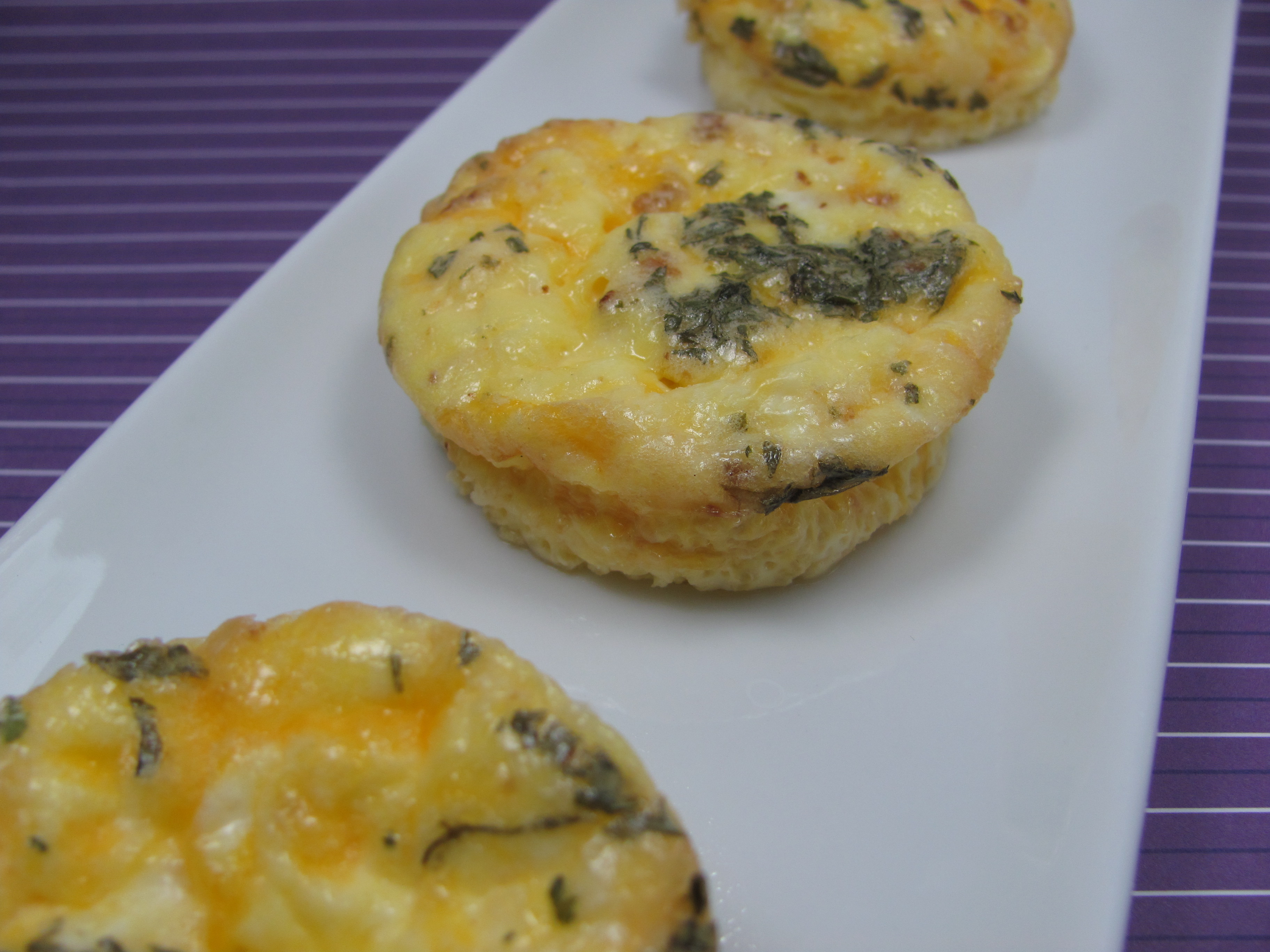 Mini Bacon and Cheese Frittatas Dog Treat/Biscuit Recipe