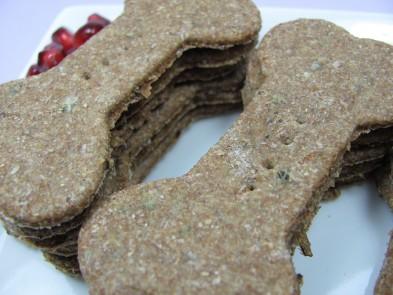 Pomegranate Mint Chicken Dog Biscuit DoggyDessertChef.com