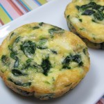spinach and goat cheese mini-quiche