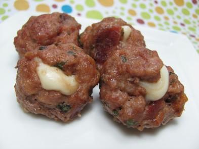 cheesy bacon meatballs