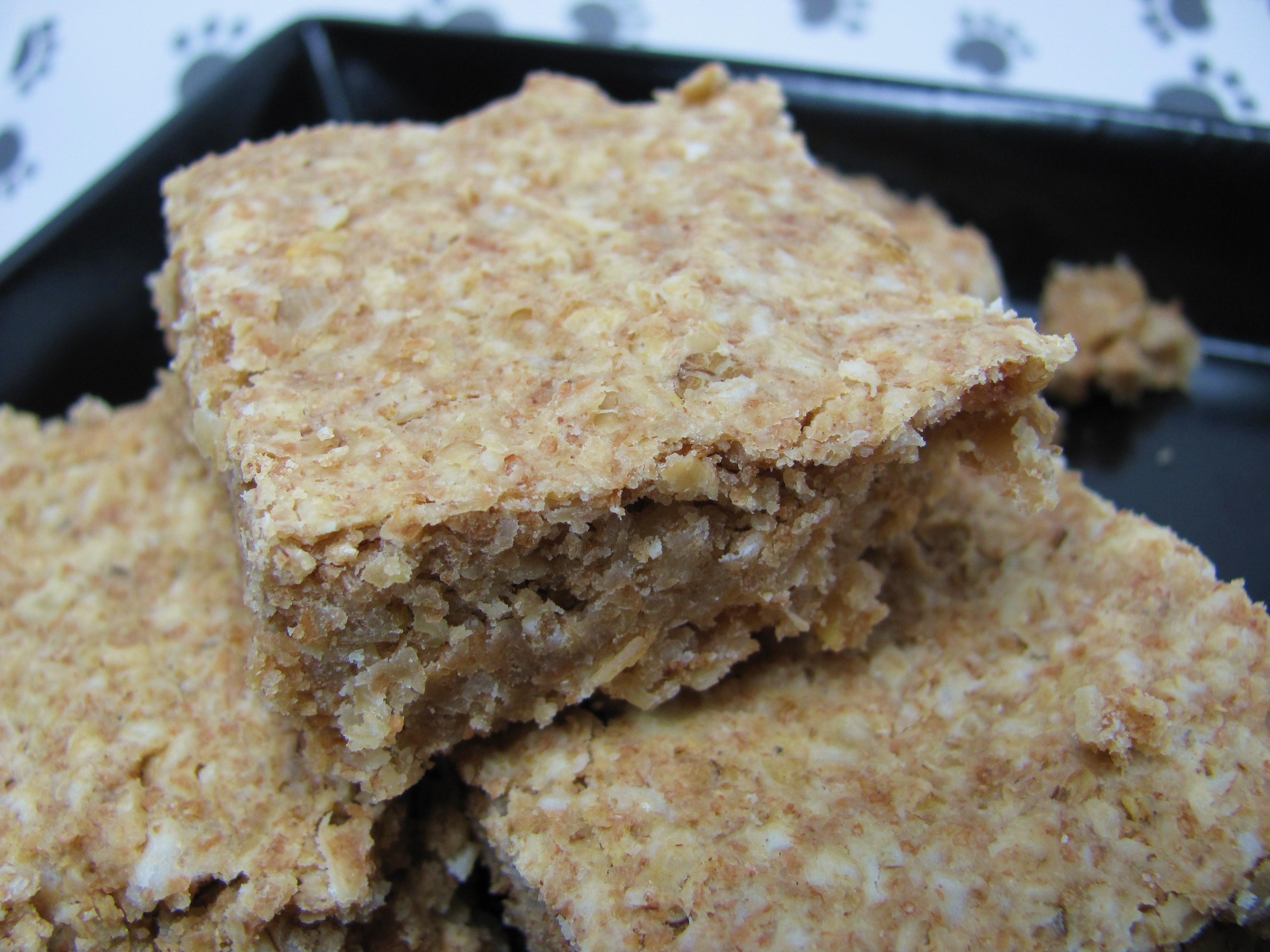 Oatmeal Squares Dog Treat Biscuit Recipe