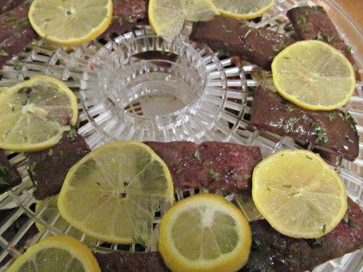 lemon parsley liver jerky dog treat recipe