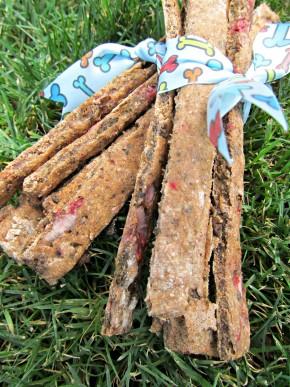 (dairy-free) strawberry beef liver dog treat/biscuit recipe