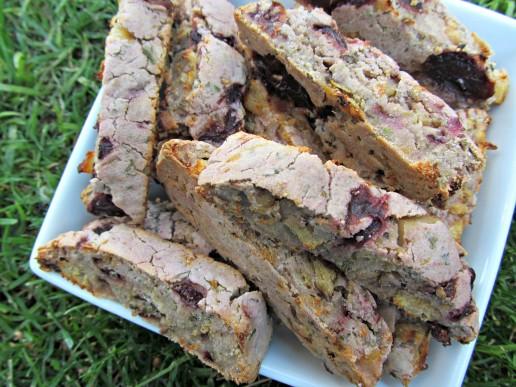 mint cherry chicken biscotti dog treat/biscuit recipe