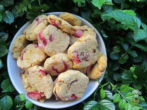 (wheat, dairy and gluten-free) sweet potato strawberry chicken dog treat/biscuit recipe