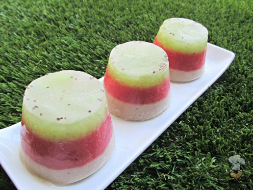 (wheat, grain, gluten and dairy-free, vegan, vegetarian) kiwi strawberry banana ice dog treat recipe