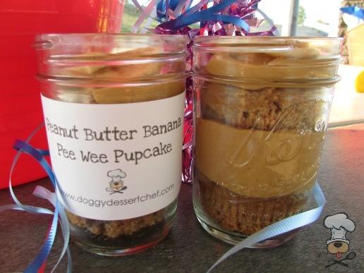 peanut butter banana pee wee pupcakes dog treat recipe