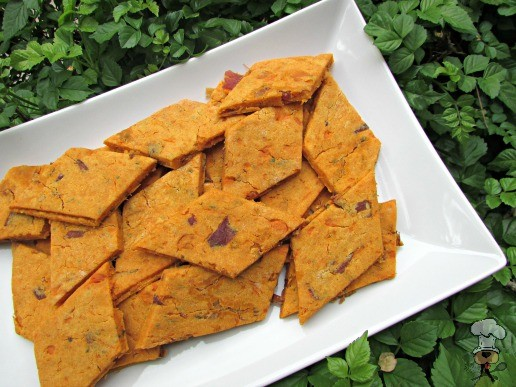 (gluten, wheat and dairy-free) sweet potato bacon dog treat/biscuit recipe