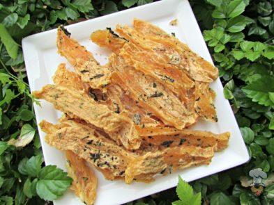 (grain, gluten, wheat and dairy-free) ginger peanut butter jerky dog treat recipe