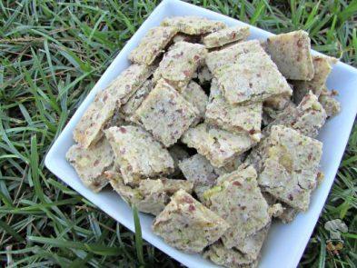 (wheat, gluten, dairy-free, vegan, vegetarian) flax seed zucchini banana dog treat biscuit recipe