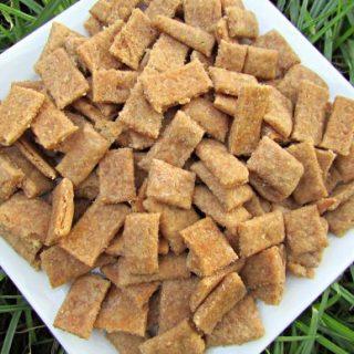 (wheat and dairy-free, vegan, vegetarian) peanut butter apple cinnamon dog treat/biscuit recipe