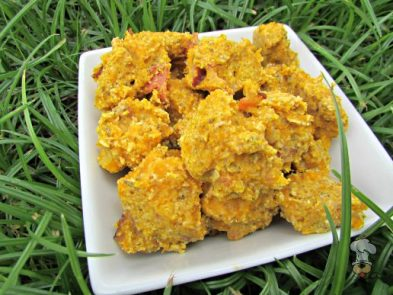 (wheat and dairy-free) bacon & egg butternut squash dog treat/biscuit recipe