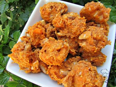 (wheat and dairy-free, vegan, vegetarian) sweet potato pear dog treat/biscuit recipe