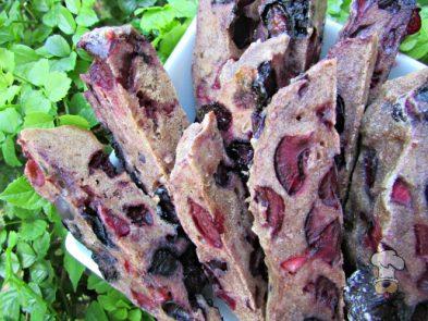 (wheat and dairy-free, vegan, vegetarian) blueberry cherry mint biscotti dog treat recipe