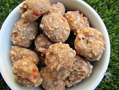 (wheat-free) mozzarella carrot dog treat/biscuit recipe