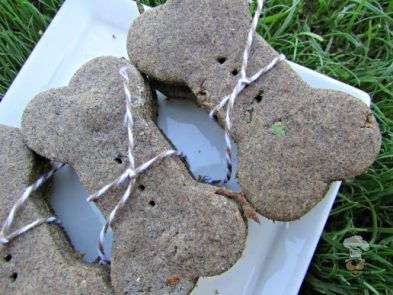 (wheat, gluten and dairy-free, vegan, vegetarian) peanut butter cantaloupe dog treat/biscuit recipe