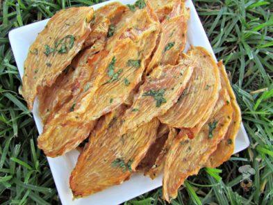 basil cantaloupe chicken jerky