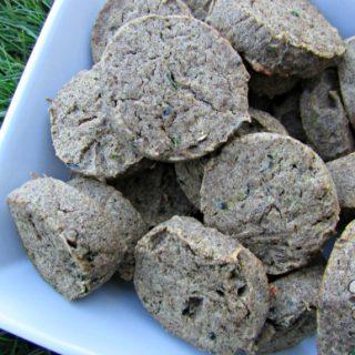 (wheat and dairy-free, vegan, vegetarian) cucumber cantaloupe dog treat/biscuit recipe