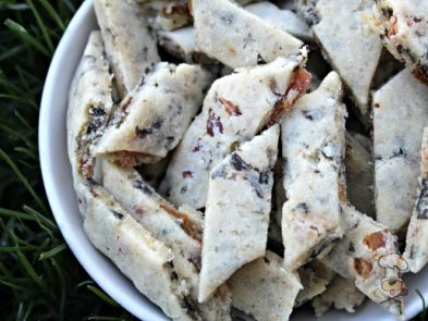 (wheat and gluten-free) parmesan bacon seaweed dog treat/biscuit recipe
