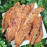 (wheat, gluten, grain and dairy-free) cinnamon ginger cranberry chicken jerky