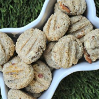 (wheat-free) goat cheese pineapple bacon dog treat/biscuit recipe