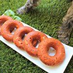 (wheat, gluten and dairy-free) tomato basil chicken donuts dog treat recipe
