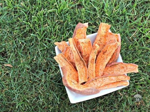 (wheat, grain, gluten and dairy free, vegan, vegetarian) apple rosemary sweet potato chews dog treat recipe