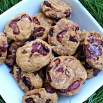 (wheat and dairy-free, vegan, vegetarian) cherry pumpkin dog treat/biscuit recipe