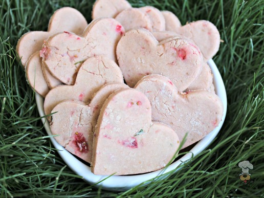 (gluten and wheat-free) mint strawberry dog treat/biscuit recipe