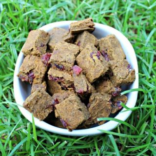 (wheat, gluten, grain and dairy-free, vegan, vegetarian) cranberry ginger pumpkin dog treat/biscuit recipe
