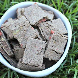 (grain, gluten, wheat and dairy-free) bacon herb zucchini dog treat/biscuit recipe