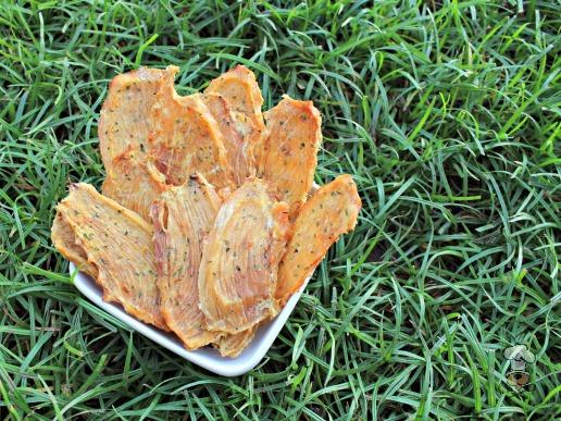 (wheat, grain, gluten and dairy-free) ginger mango chicken jerky dog treat recipe