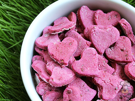 (gluten, wheat and dairy-free) flax seed beets dog treat/biscuit recipe