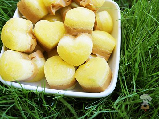 (gluten, grain, wheat and dairy-free) frozen peanut butter pineapple dog treat recipe