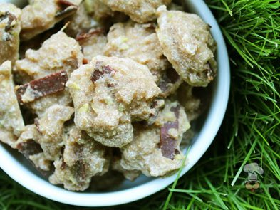 (wheat and dairy-free) apple turkey bacon dog treat recipe